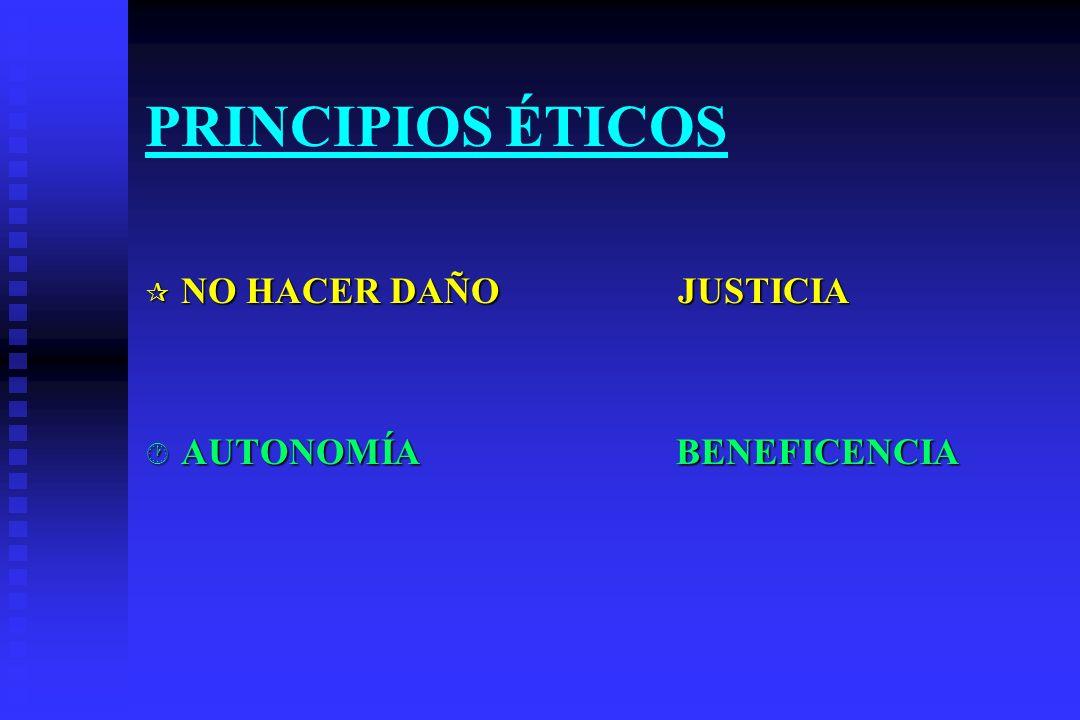 PRINCIPIOS ÉTICOS NO HACER DAÑO JUSTICIA.