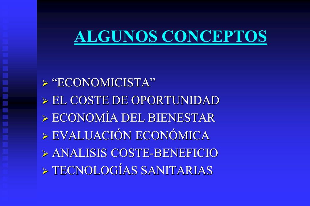 ALGUNOS CONCEPTOS ECONOMICISTA EL COSTE DE OPORTUNIDAD