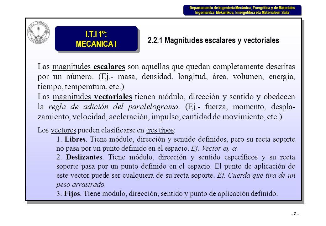 2.2.1 Magnitudes escalares y vectoriales