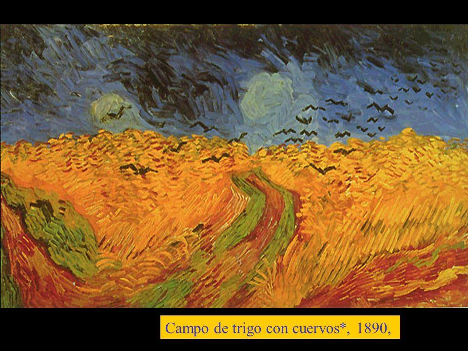 Campo de trigo con cuervos*, 1890,