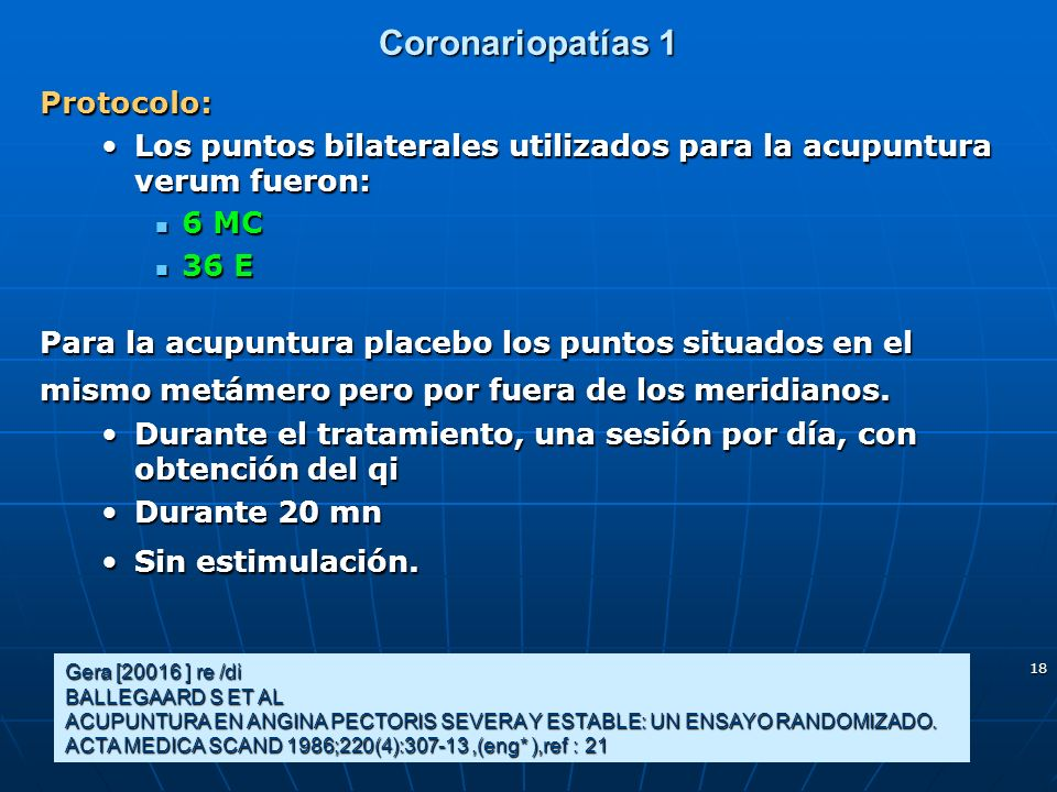 Coronariopatías 1 Protocolo: