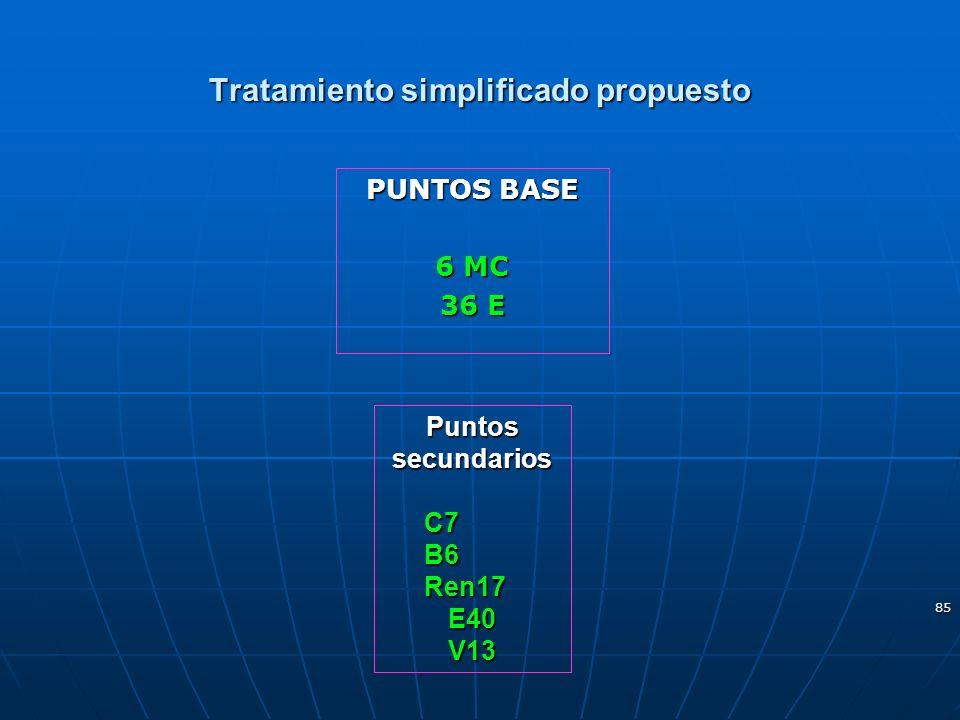 Tratamiento simplificado propuesto