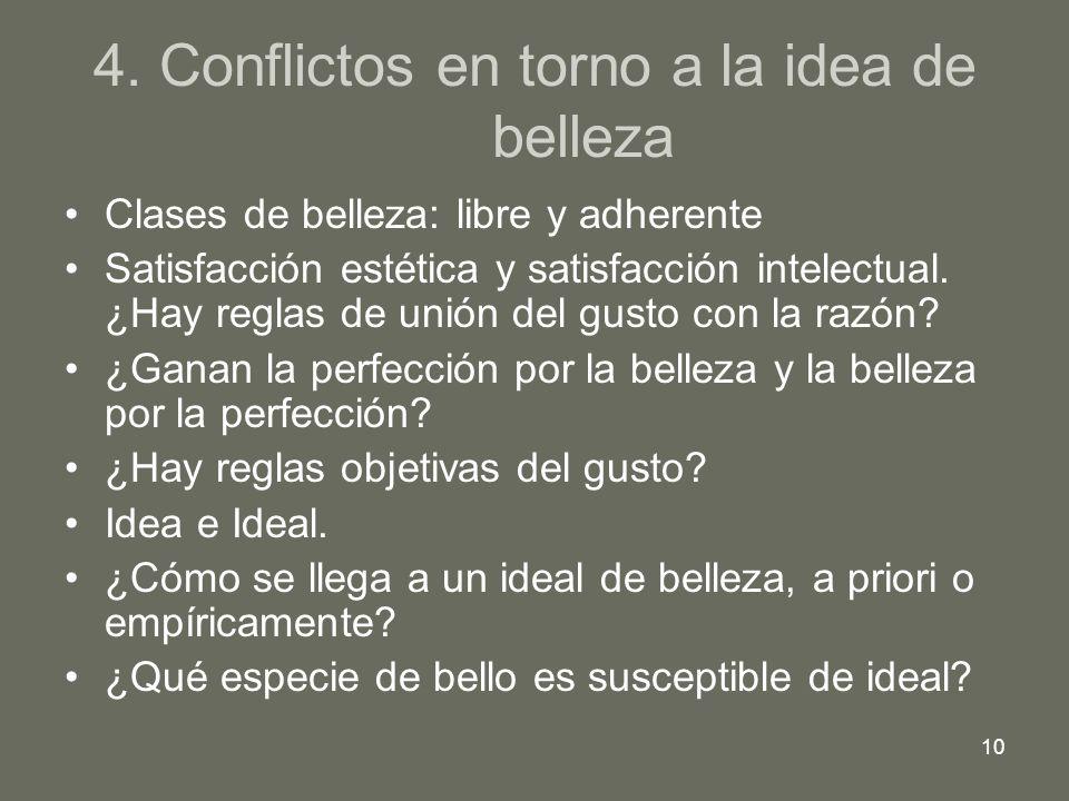 4. Conflictos en torno a la idea de belleza