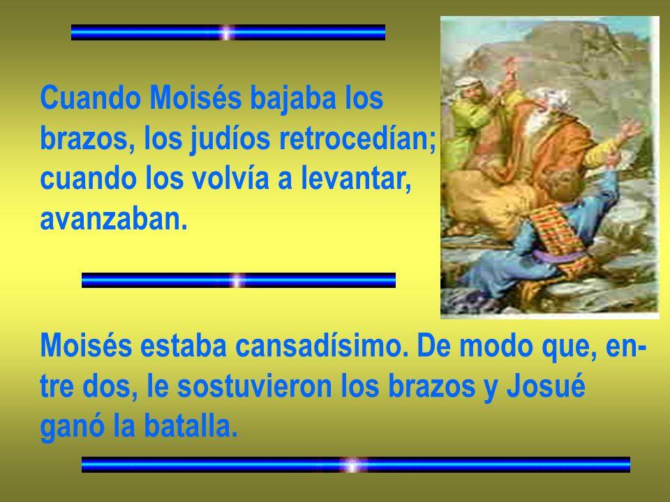 Cuando Moisés bajaba los