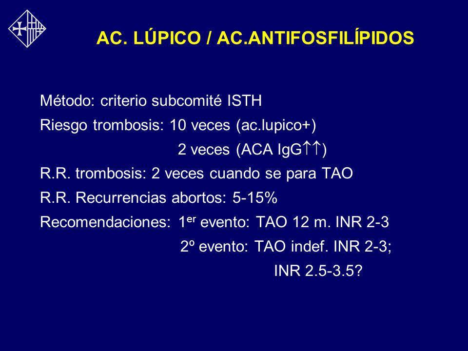 AC. LÚPICO / AC.ANTIFOSFILÍPIDOS