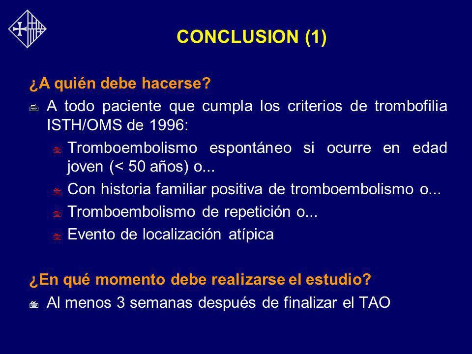 CONCLUSION (1) ¿A quién debe hacerse