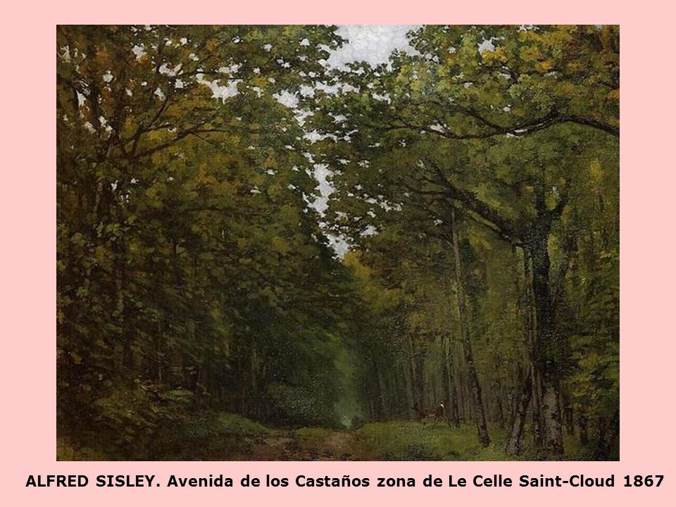 ALFRED SISLEY. Avenida de los Castaños zona de Le Celle Saint-Cloud 1867