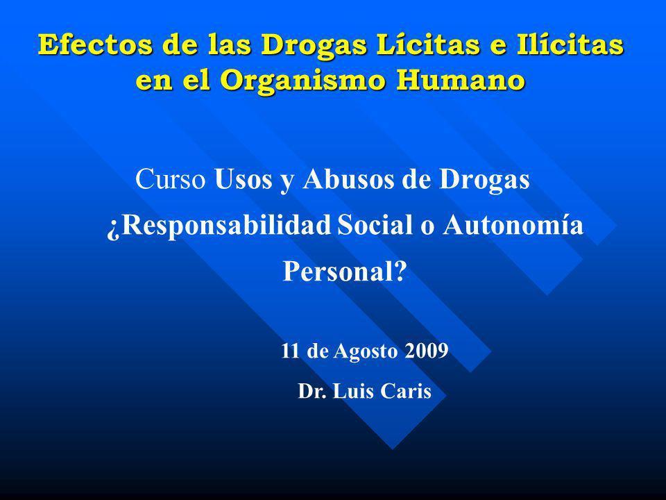 Efectos de las Drogas Lícitas e Ilícitas en el Organismo Humano