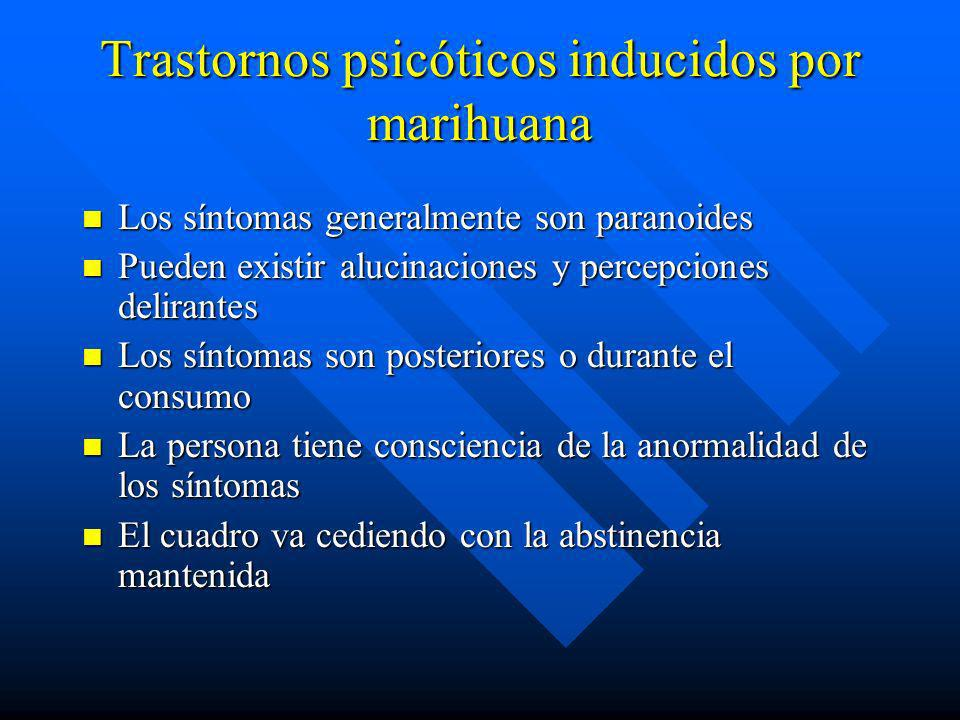 Trastornos psicóticos inducidos por marihuana