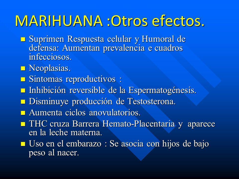 MARIHUANA :Otros efectos.