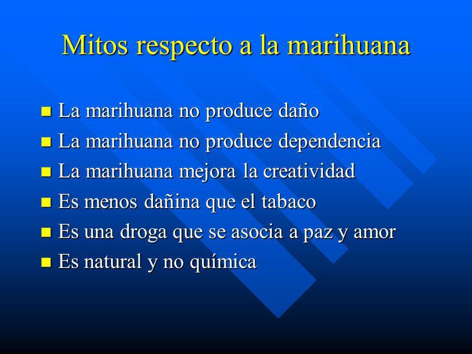 Mitos respecto a la marihuana