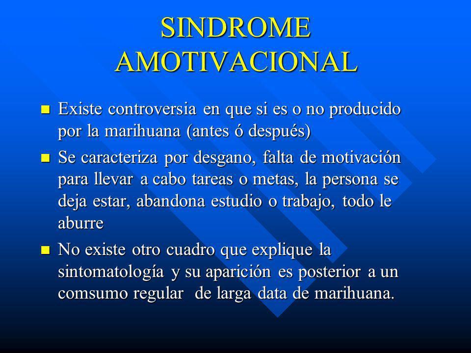 SINDROME AMOTIVACIONAL