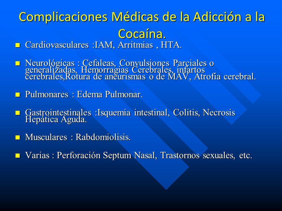 Complicaciones Médicas de la Adicción a la Cocaína.