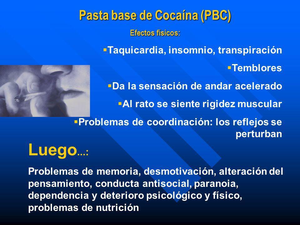 Pasta base de Cocaína (PBC)