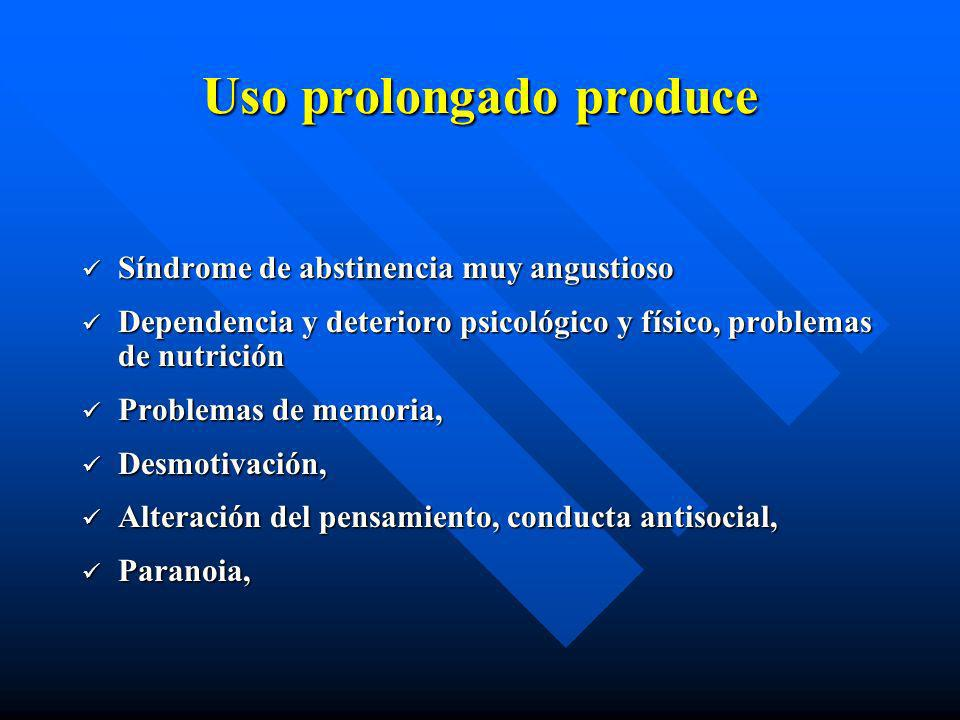 Uso prolongado produce