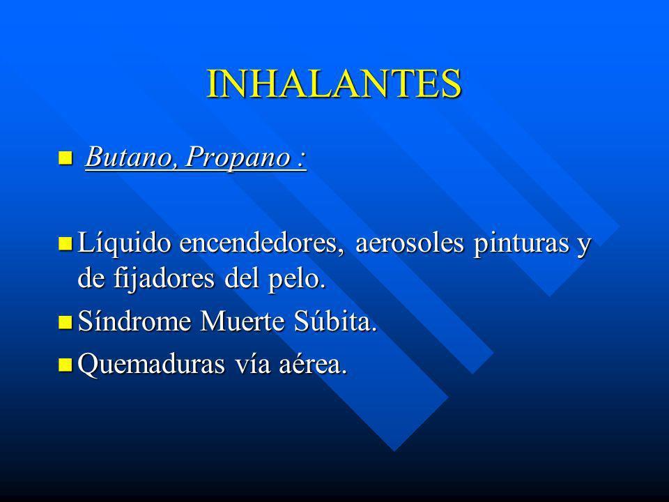 INHALANTES Butano, Propano :