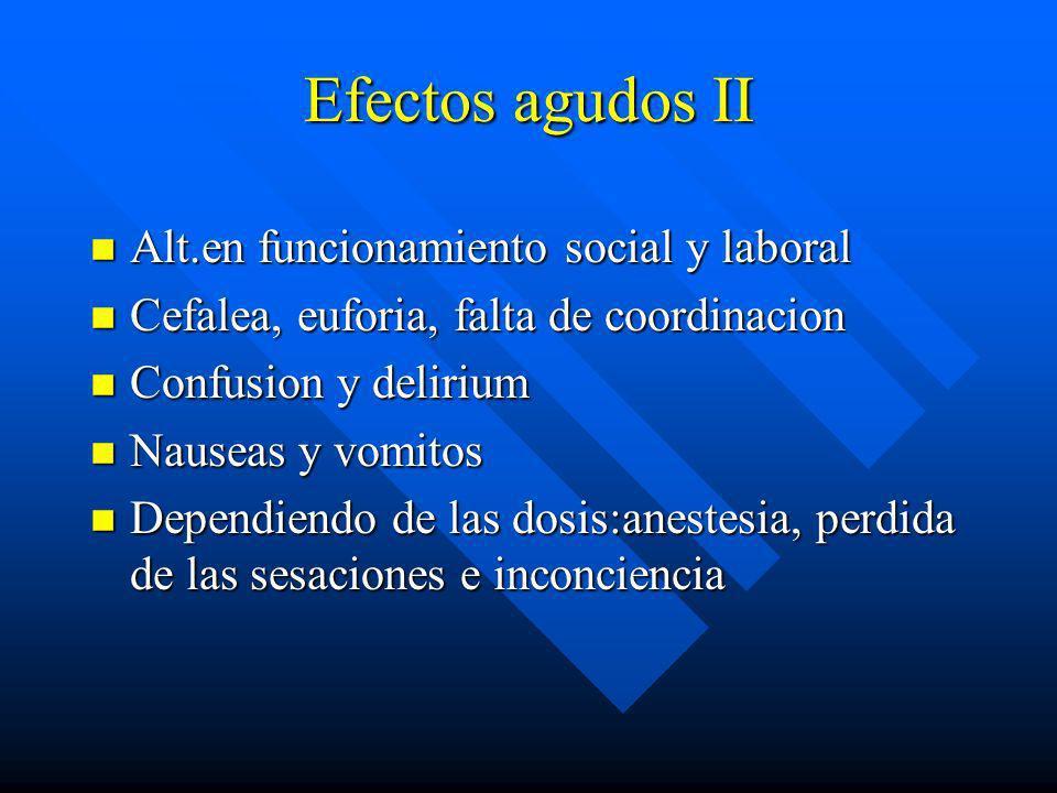 Efectos agudos II Alt.en funcionamiento social y laboral