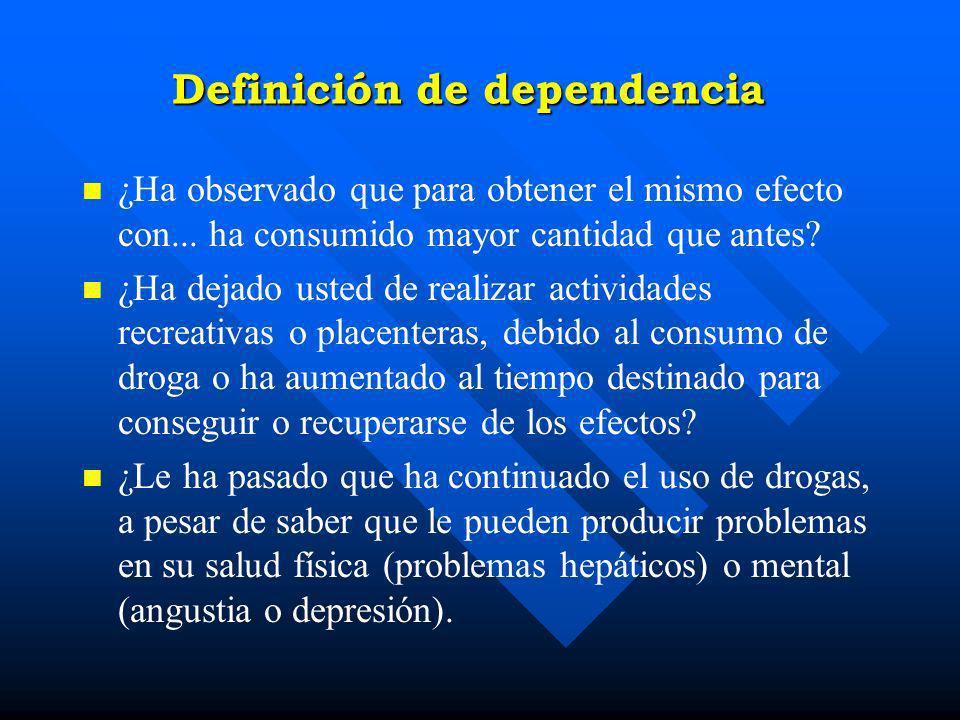 Definición de dependencia