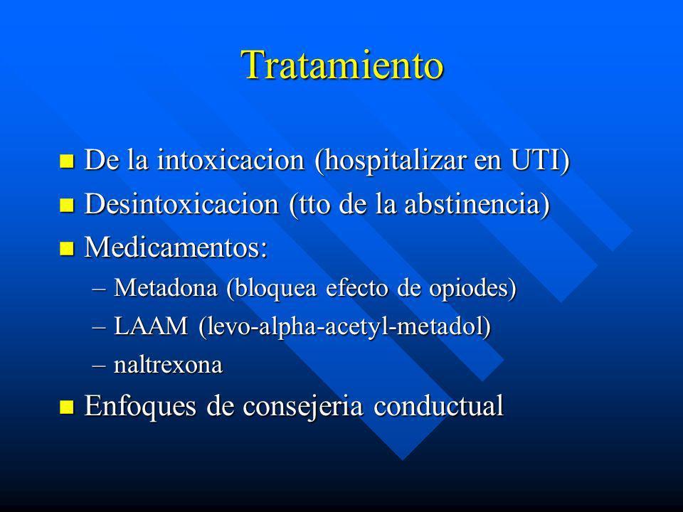 Tratamiento De la intoxicacion (hospitalizar en UTI)