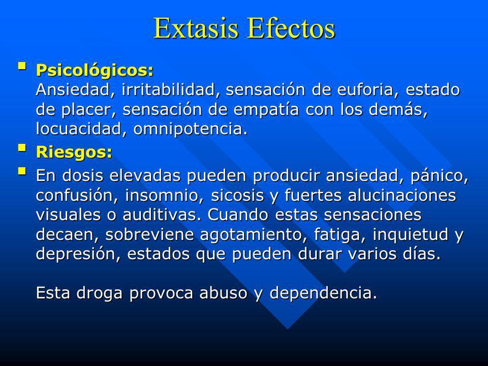Extasis Efectos
