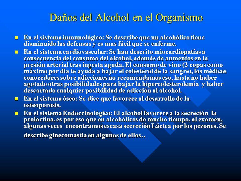 Daños del Alcohol en el Organismo
