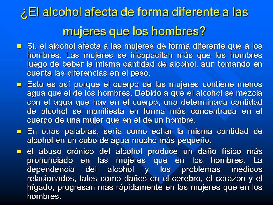 ¿El alcohol afecta de forma diferente a las mujeres que los hombres