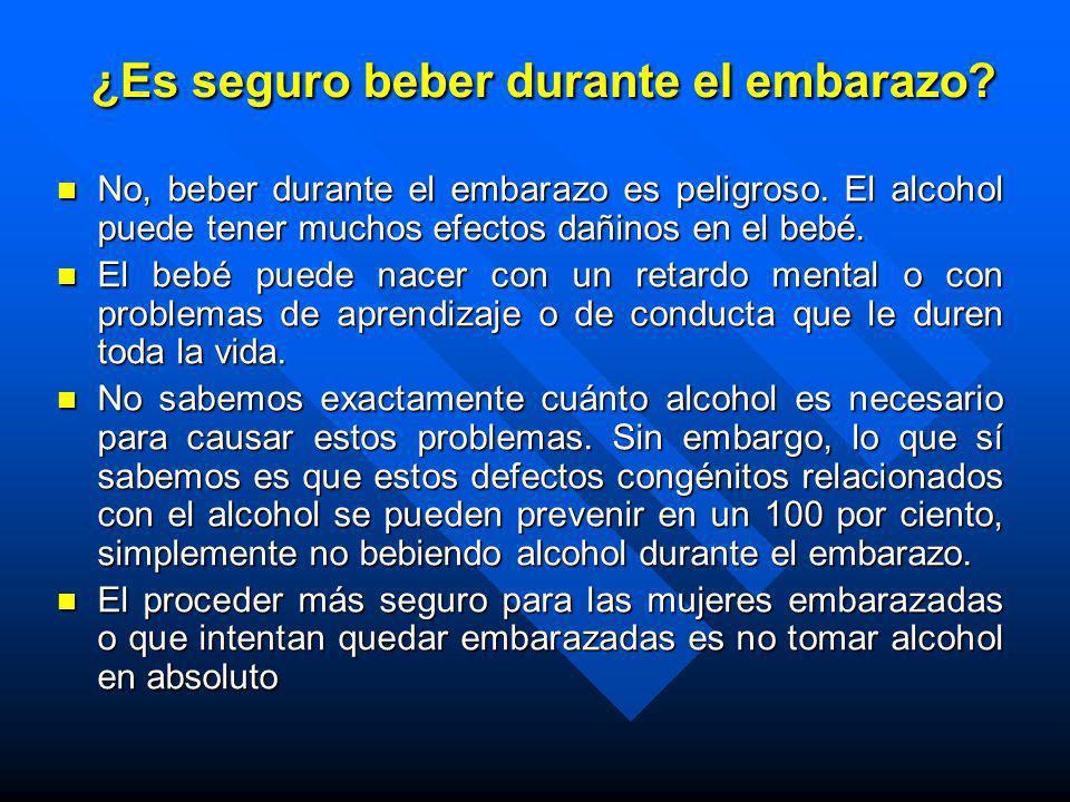 ¿Es seguro beber durante el embarazo
