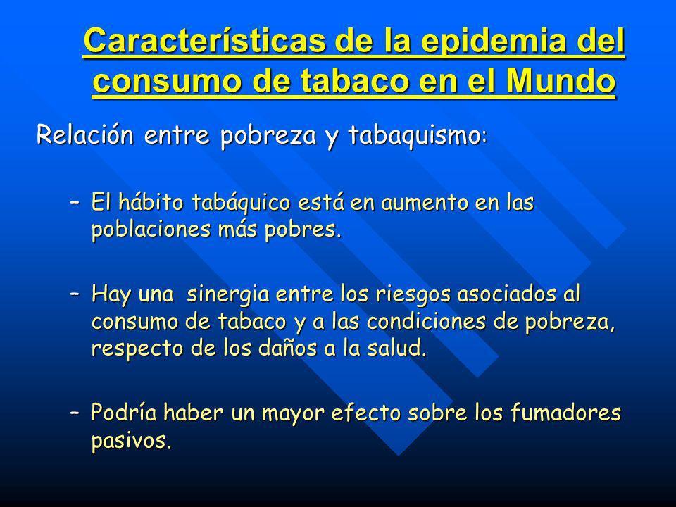 Características de la epidemia del consumo de tabaco en el Mundo