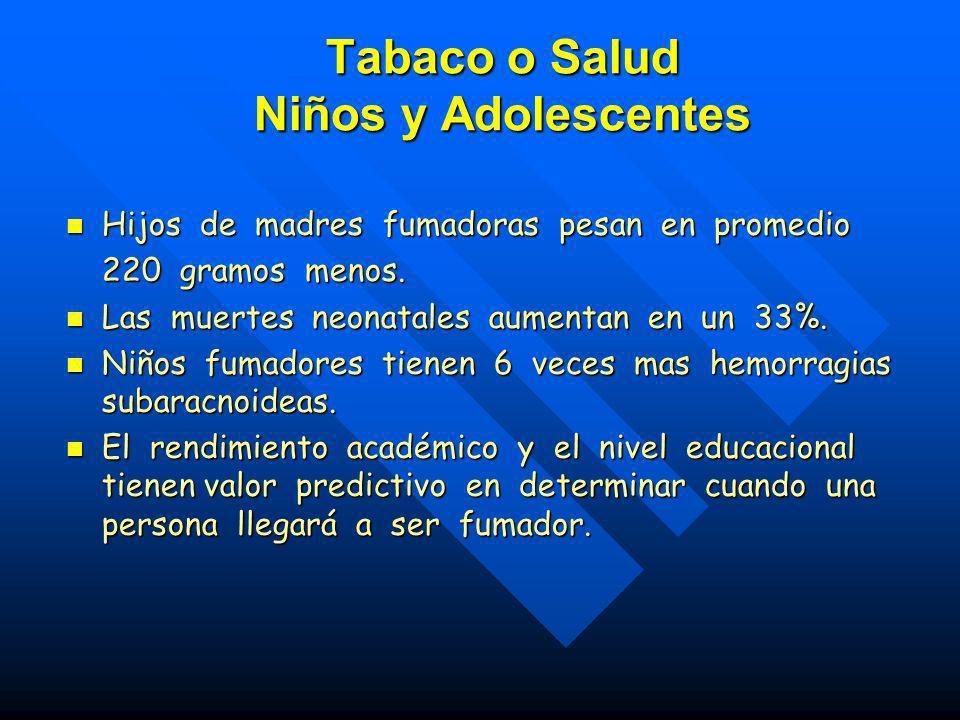 Tabaco o Salud Niños y Adolescentes