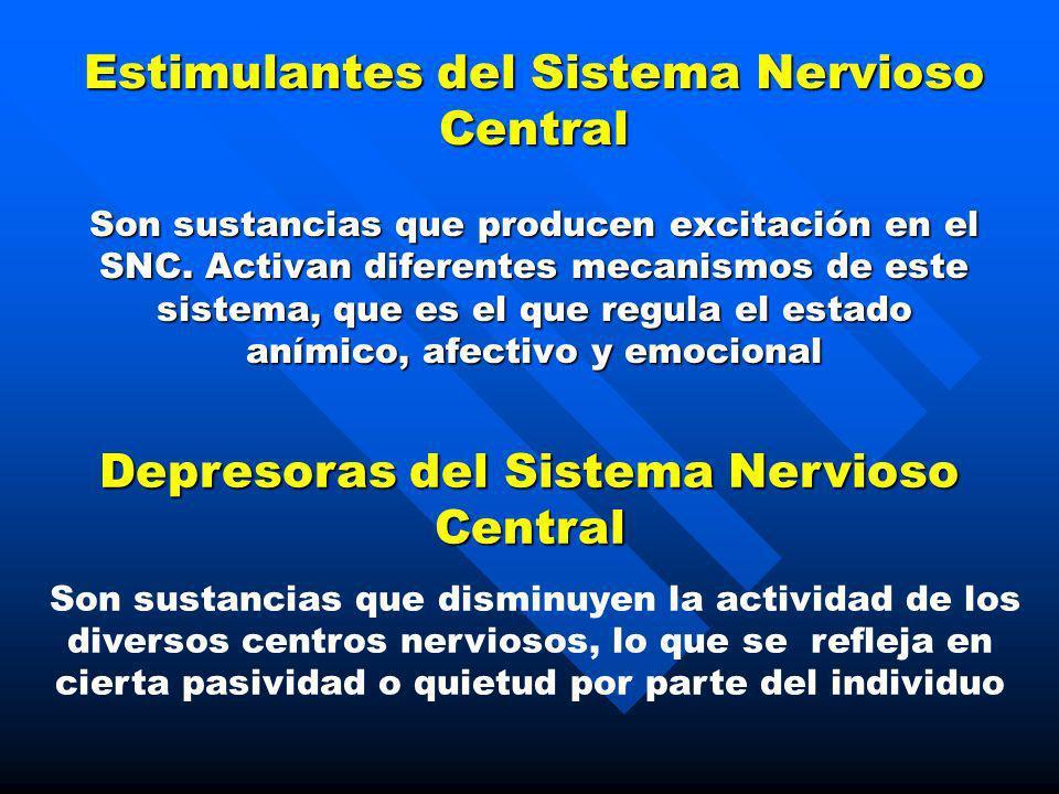 Depresoras del Sistema Nervioso Central