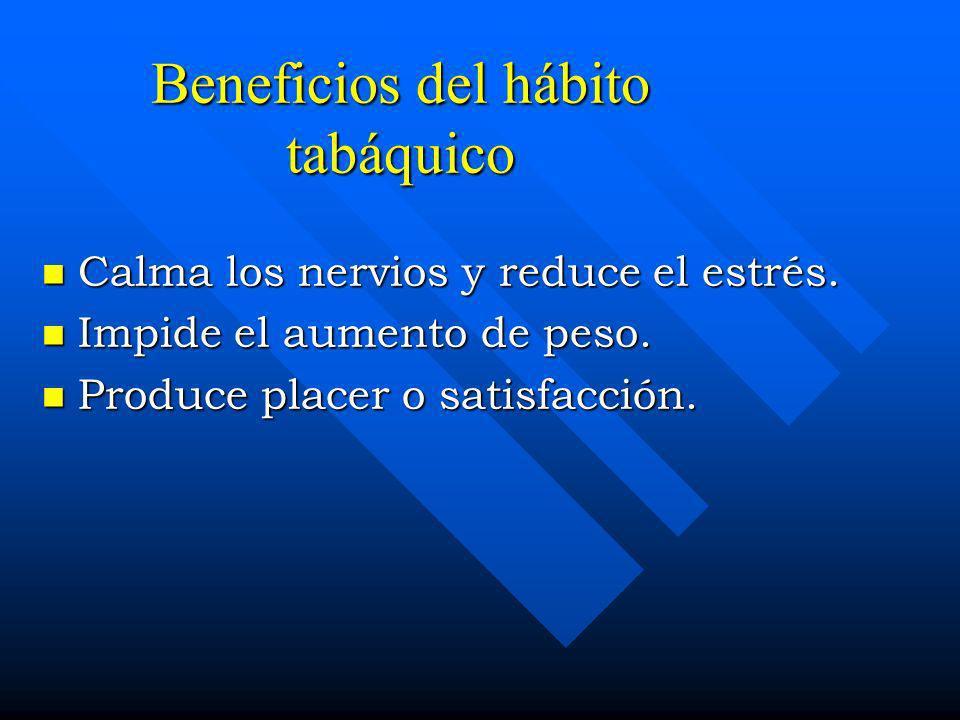 Beneficios del hábito tabáquico