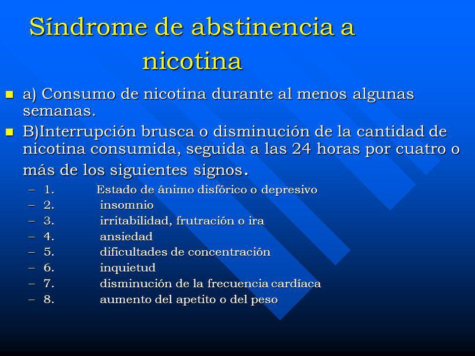 Síndrome de abstinencia a nicotina
