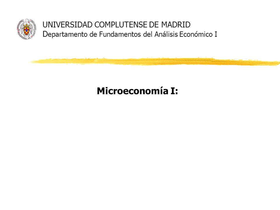 UNIVERSIDAD COMPLUTENSE DE MADRID Departamento de Fundamentos del Análisis Económico I