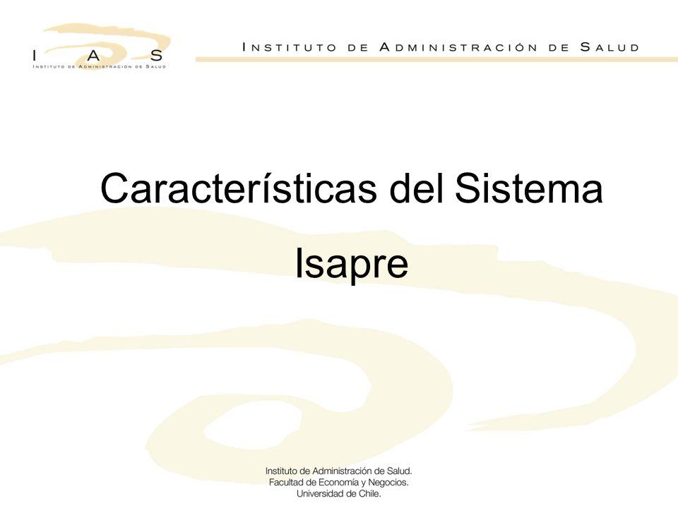 Características del Sistema Isapre