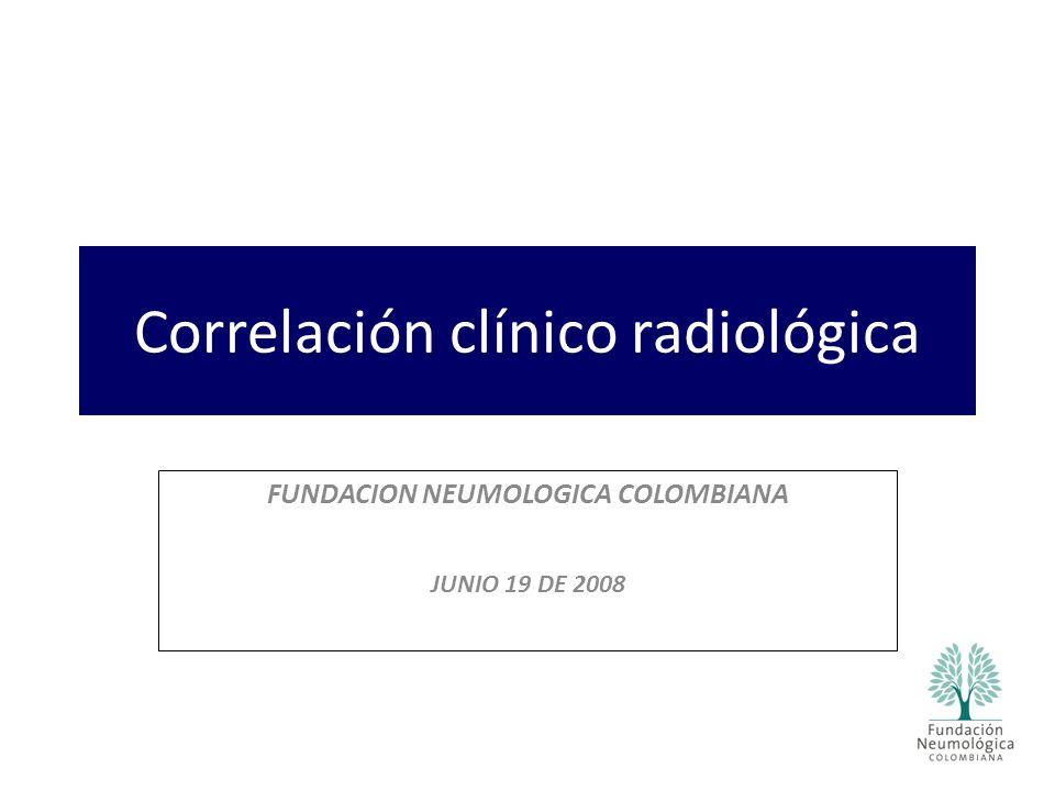 Correlación clínico radiológica
