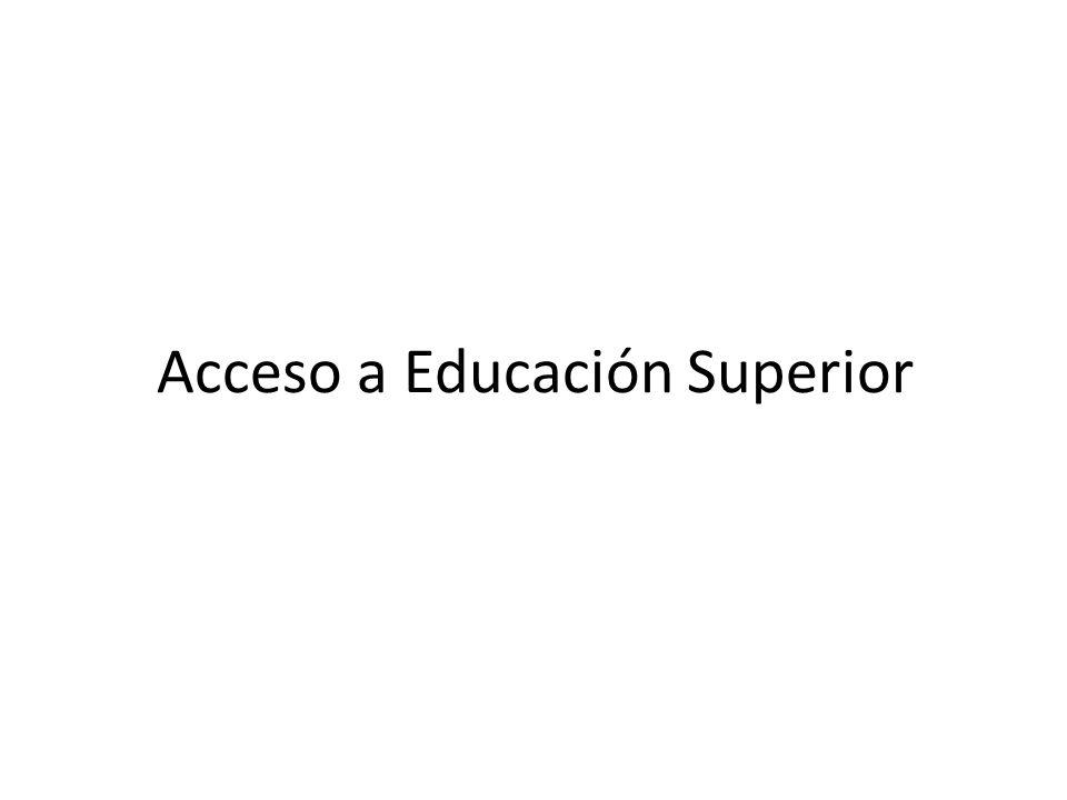 Acceso a Educación Superior