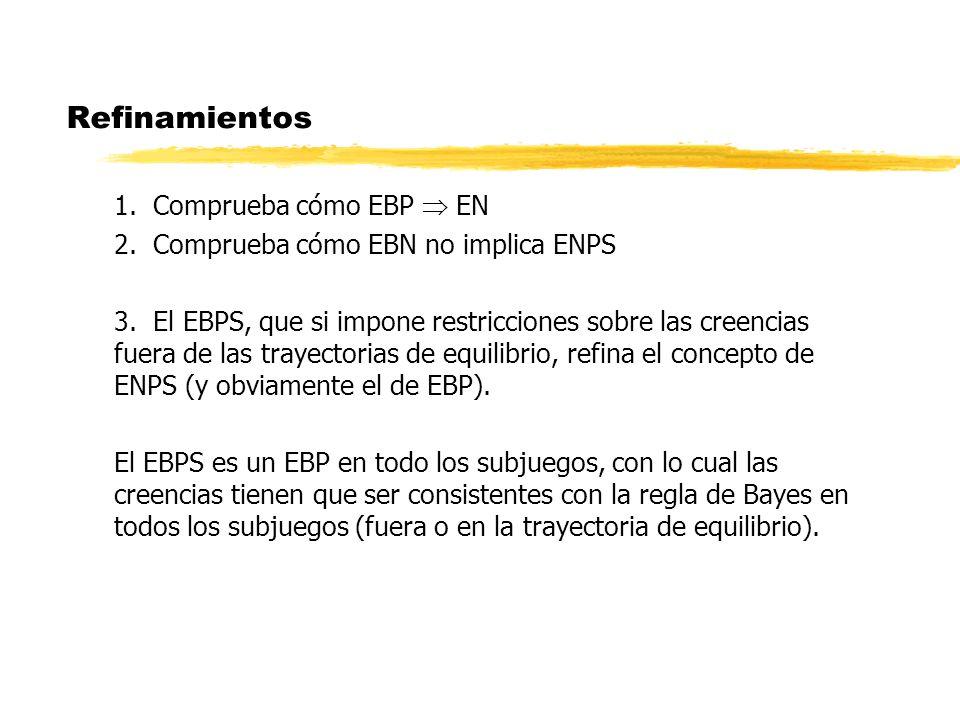 Refinamientos 1. Comprueba cómo EBP  EN