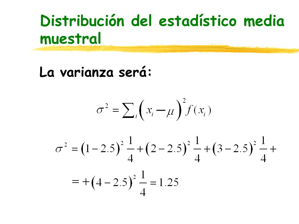 Distribución del estadístico media muestral