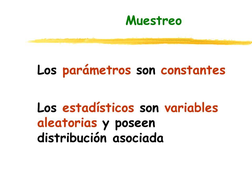 Muestreo Los parámetros son constantes.