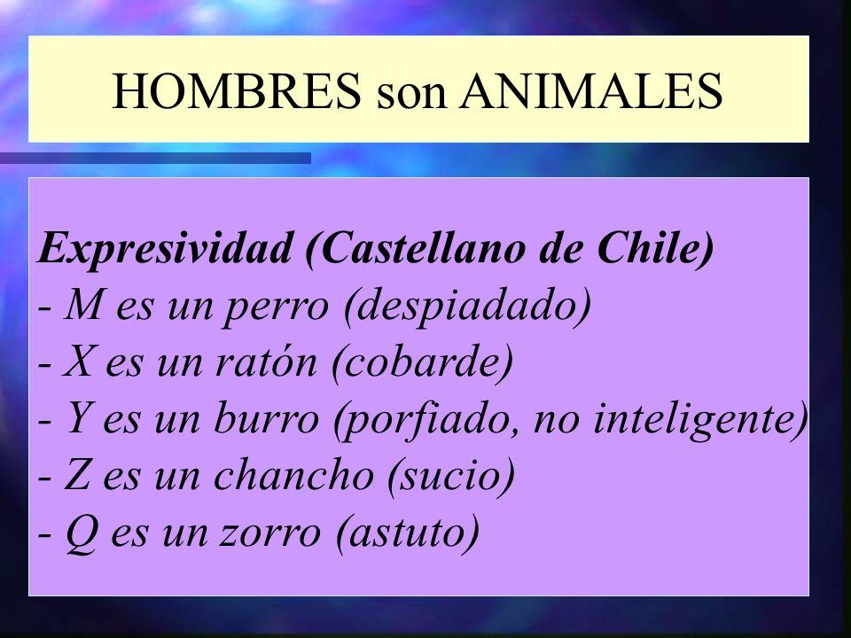 HOMBRES son ANIMALES Expresividad (Castellano de Chile)