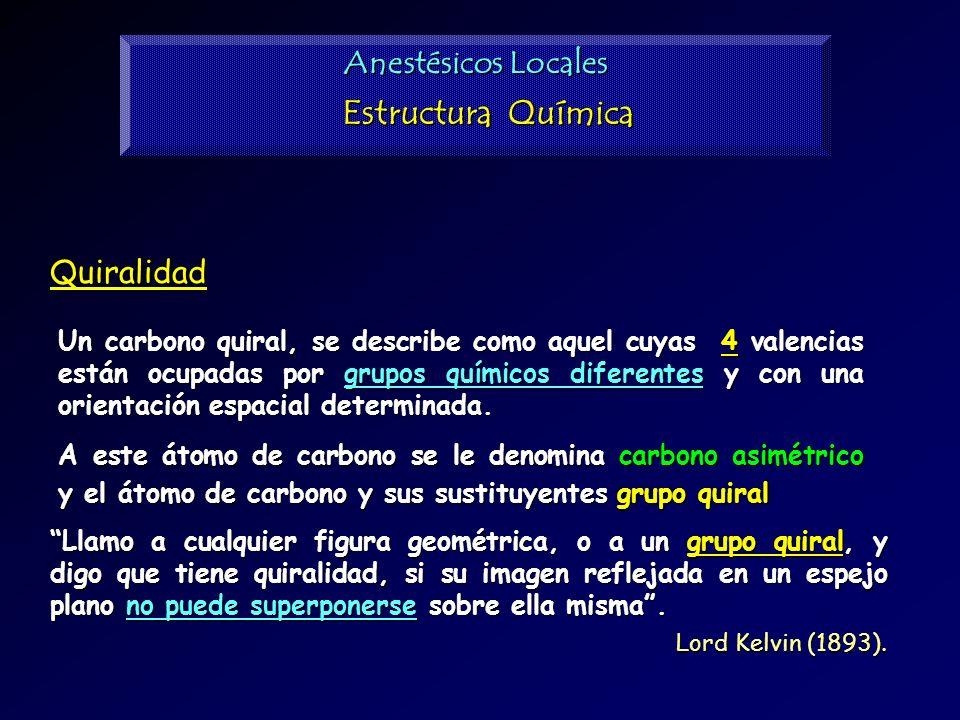 Estructura Química Anestésicos Locales Quiralidad