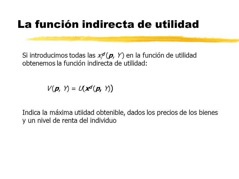 La función indirecta de utilidad