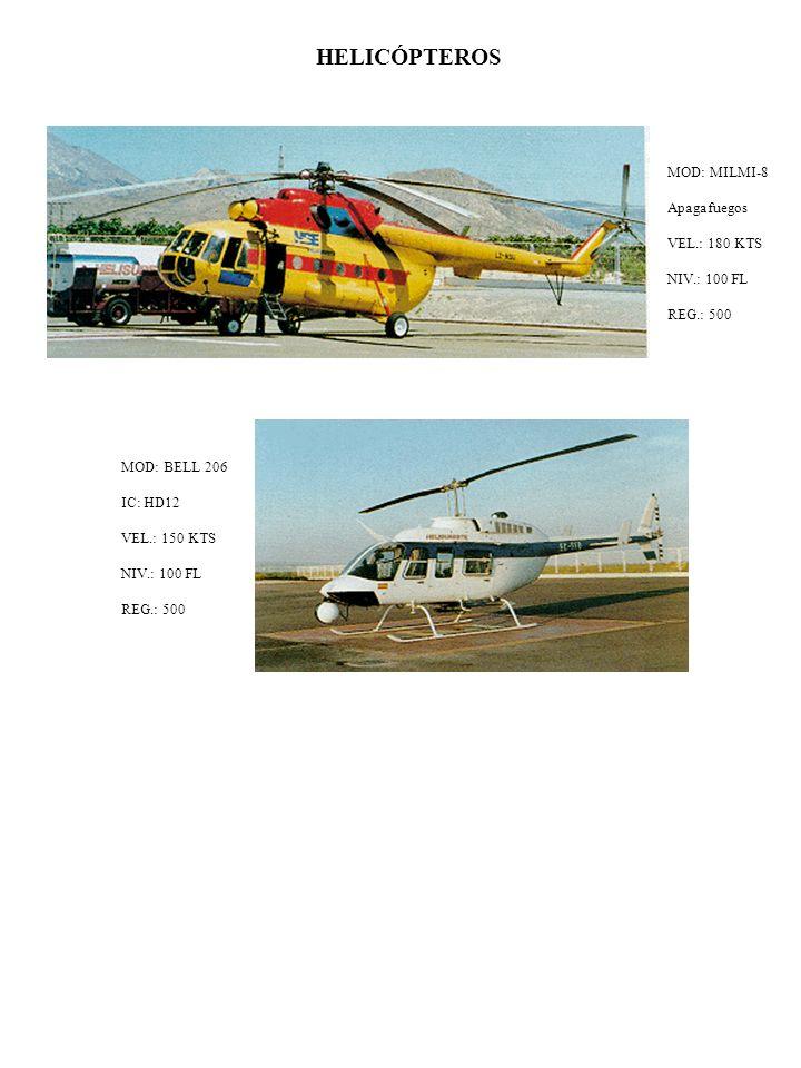HELICÓPTEROS MOD: MILMI-8 Apagafuegos VEL.: 180 KTS NIV.: 100 FL