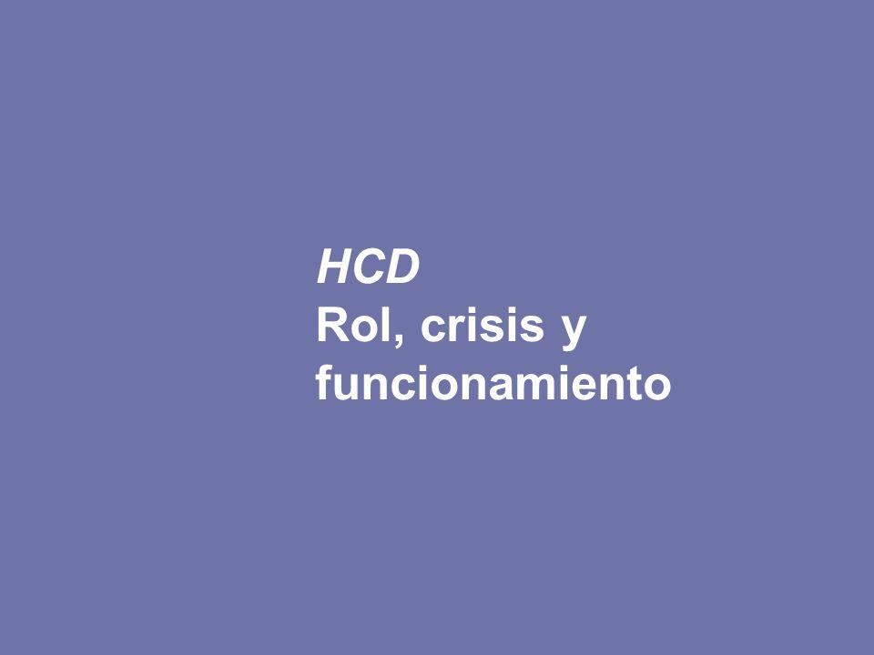 HCD Rol, crisis y funcionamiento