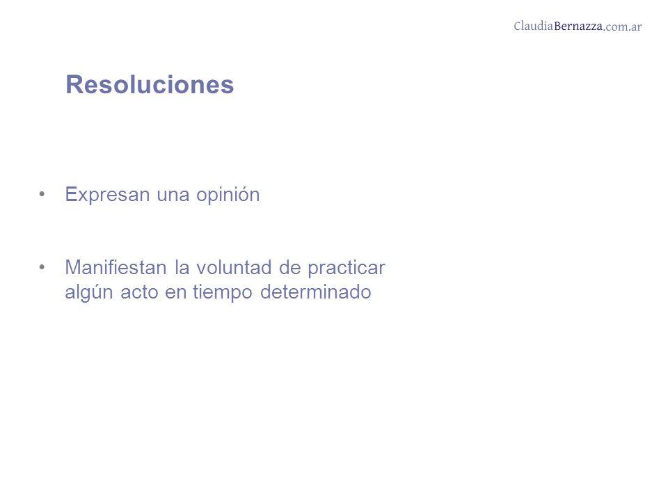 Resoluciones Expresan una opinión