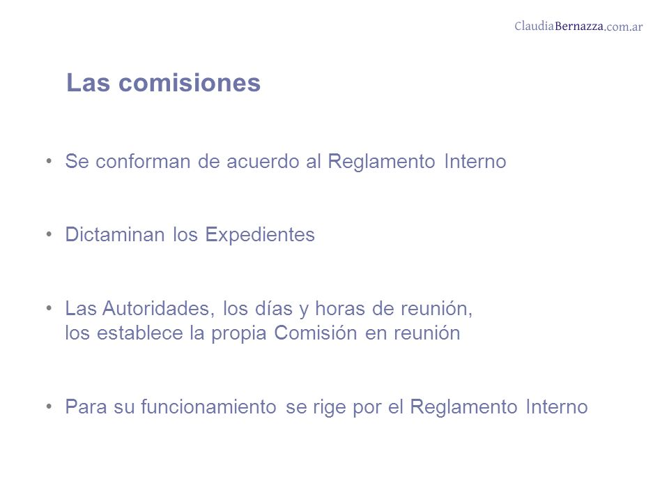 Las comisiones Se conforman de acuerdo al Reglamento Interno
