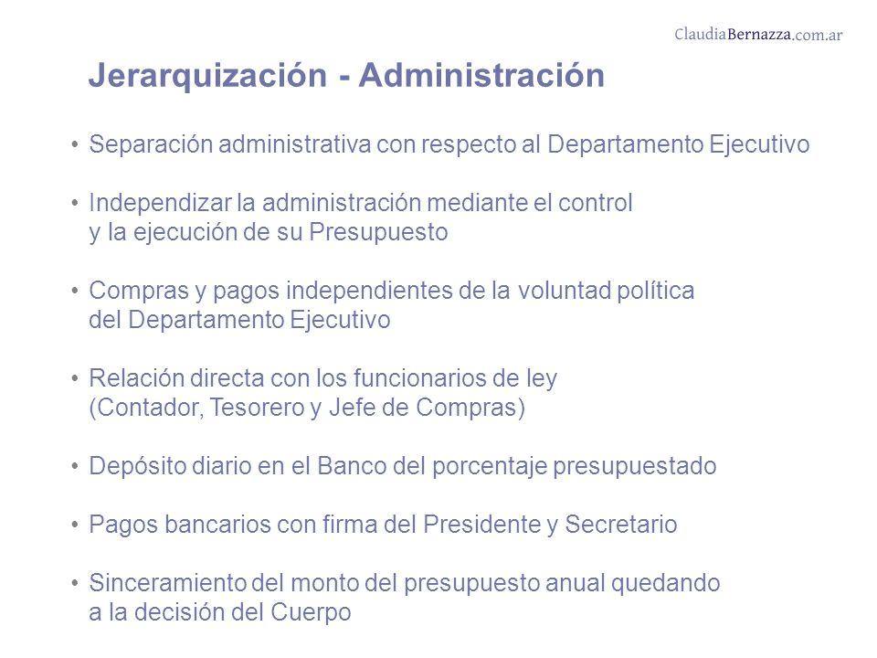 Jerarquización - Administración
