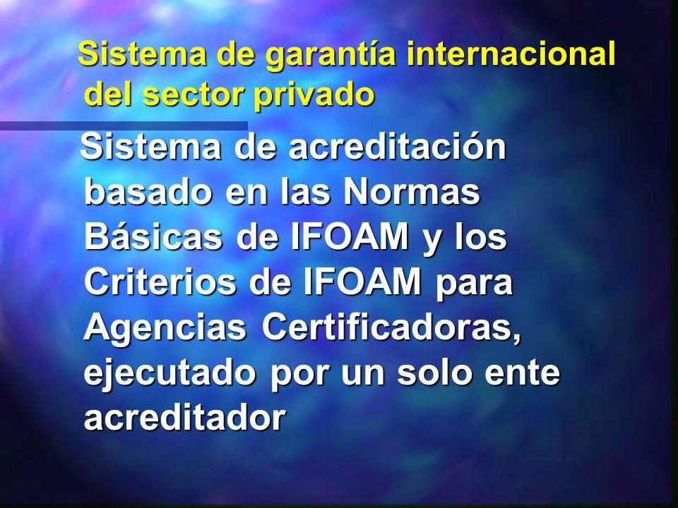 Sistema de garantía internacional del sector privado