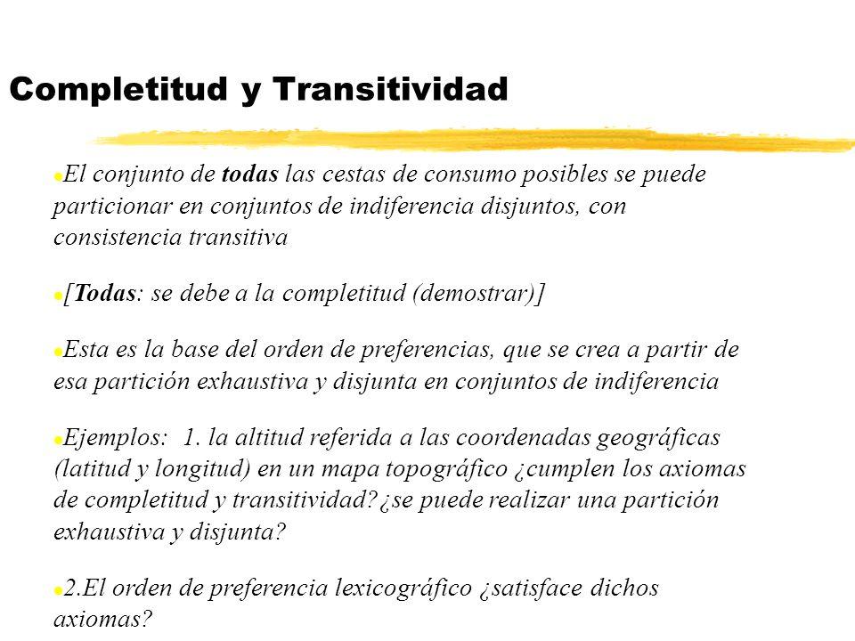 Completitud y Transitividad