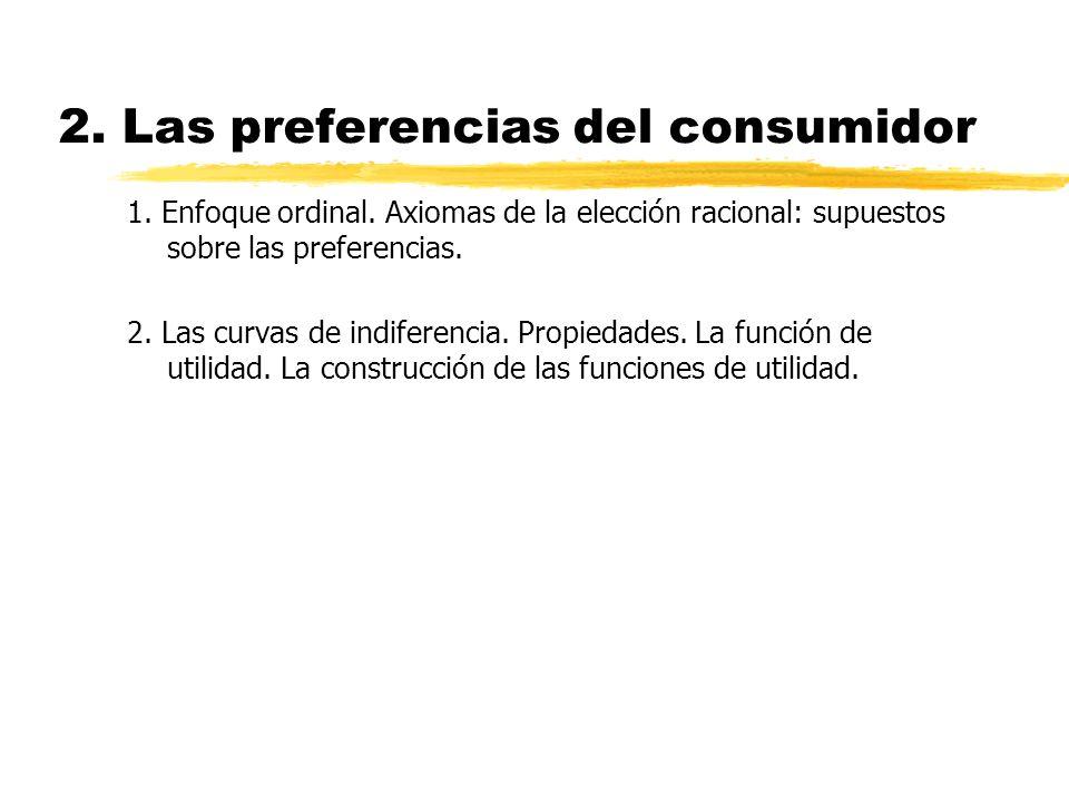 2. Las preferencias del consumidor